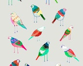 Birdies. illustration art print by Ashley Percival.