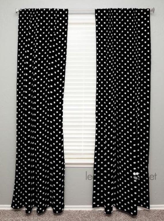 curtain panel i black white polka dot olivia by leahashleyokc. Black Bedroom Furniture Sets. Home Design Ideas