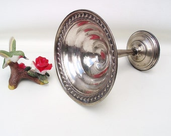 Vintage Sterling Silver | Sterling Pedestal Dish | Compote | Footed Candy Dish | Sterling Card Holder - As Is