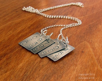 Personalized Necklace with Custom Dates: Four Pendants, Four Dates.