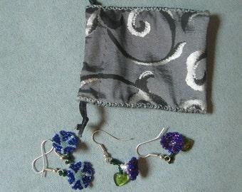 Beadwork Morning Glory Earrings