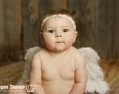 Baby Headband- Ivory Beaded Trim Headband