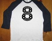 Birthday Shirt - 8 year old shirt - 8th birthday - Birthday Party Shirt - Raglan Tee Shirt - Eight Shirt - Gift Friendly - Girl or Boy