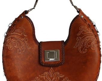 Tooled Leather Handbag - Loveland