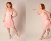 Vintage 1960s Lingerie Pink Babydoll Nightie Bridal Trousseau Fashions