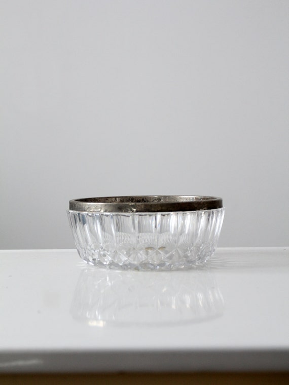 1950s Vintage Lead Crystal Bowl, William Adams