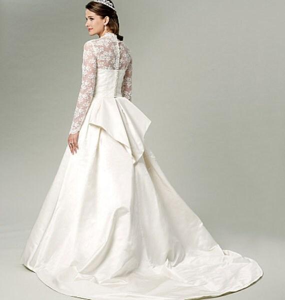 Wedding dress bridal gown pattern uncut butterick by for Butterick wedding dress patterns