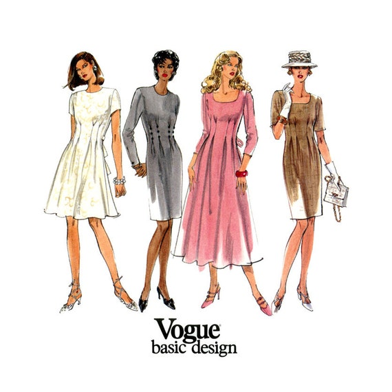 S dress pattern vogue basic design bust by