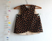 Stylish Reversible Pinafore  size 3T / Reversible Top, Apron Smock for Toddlers, Little Girls