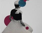 Geometric Art, One of a Kind, Original Paper Art, Paper Collage, Retro Art, Surreal Art Collage
