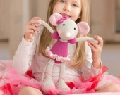 PATTERN - Ballerina-Mouse - crochet pattern, amigurumi pattern, PDF