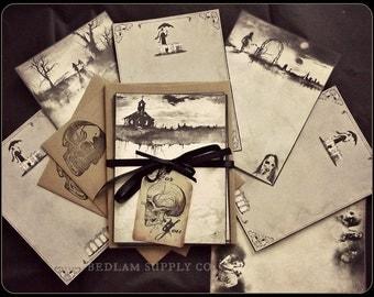 Scary Stories & Edward Gorey  - Sampler Note Card Set with Envelopes
