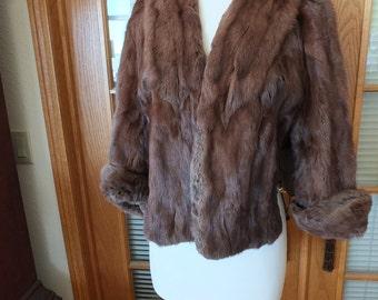 Vintage fur cape coat jacket wedding outerwear special occasion red carpet fur coat stole
