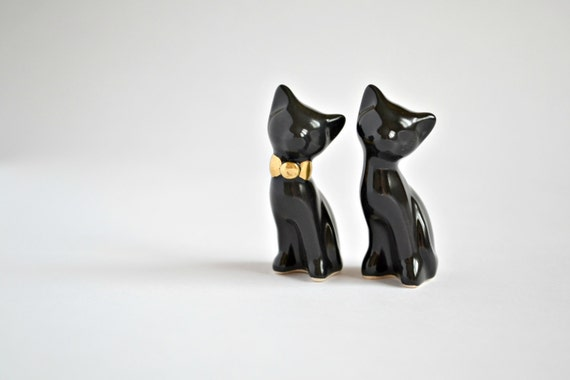 black cat wedding cake toppers black cat cake topper wedding by jasminblancboutique 11859
