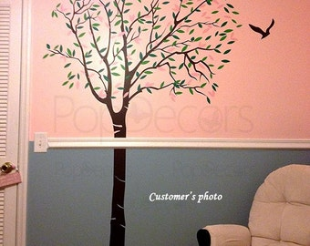 "Tree Wall Decals Vinyl Wall Art Tree Natre Tree Design- Lovely Tree(72""H) -Removable Wall  Decals Stickers Home Decor by Pop Decors"