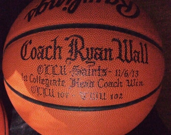 Personalized  Basketball, Soccer, Baseball, Softball.  Commorative Coach or Player for Award Ceremony