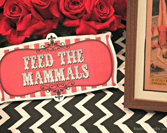Vintage Circus Party Signs - Printable Decorations - PERSONALIZED