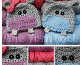 Crochet Baby Hippo Hat Newborn, Infant, Toddler, Youth, and Adult Sizes