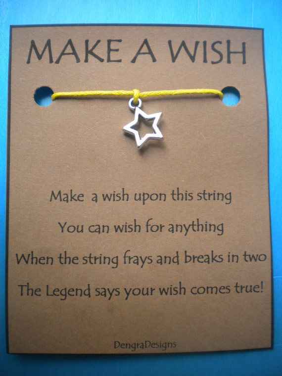 WISH STRING Bracelet STAR Cord Color Choice