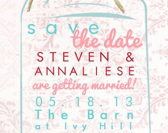 design your own save the date gng design