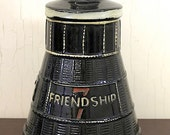 Vintage McCoy Cookie Jar Friendship '7' Rocket Capsule shape (E1439)