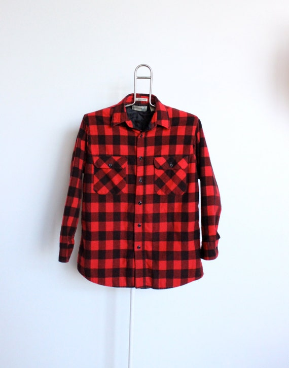 Buffalo Plaid Flannel Shirt Mens Large Unisex Womens Shirt