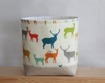 Nursery Storage Basket Deer