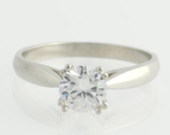 Semi Mount Engagement Ring Setting - Platinum Designer Diamond Accents Unique Engagement Ring x2538 R