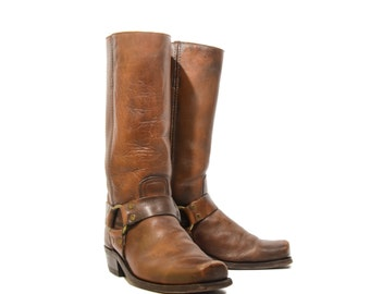 8.5 D | Vintage Frye Harness Boots Brown Campus Boots Men's Pull On Boot