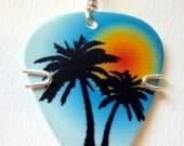 Palm Tree Guitar Pick Pendant