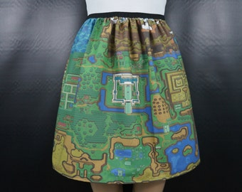 Link to the Past skirt - Light & Dark world maps - made to order