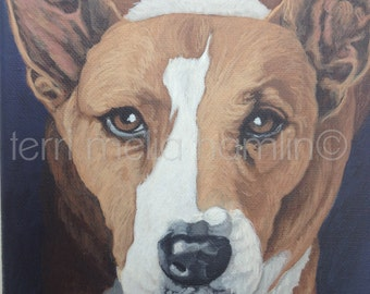 Custom Dog Portrait, 8x10 Pet Portrait, Custom Pet Portrait, Painted Pet Portraits, Dog Portrait Custom, Acrylic Painted Portrait