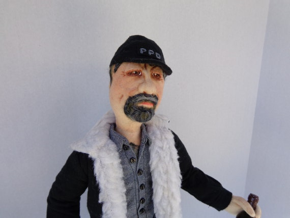 OOAK Art Doll TOM SELLECK as Jesse Stone Police Chief- a cloth doll
