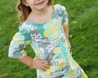 The Adelaide A-Line Dress sewing pattern - sewing pattern - PDF pattern - dress- girls pattern