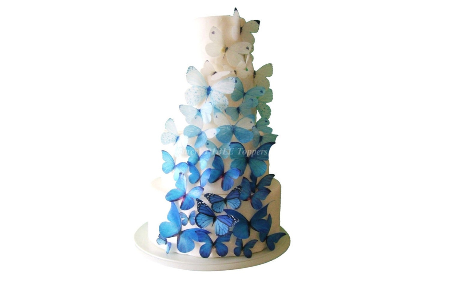 WEDDING CAKE Topper Winter Wedding Edible Butterflies 40