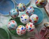 Speckled Multicolor  German Glass Beads