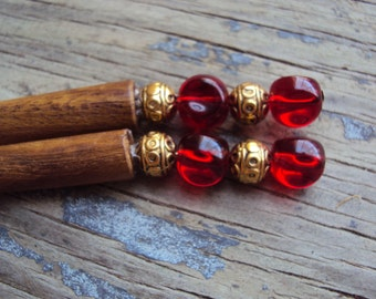 sale - 15 Points to Gryffindor- Harry Potter inspired hairsticks