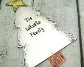 Personalized Ornament - Hand Stamped Family Tree Ornament - Christmas Ornament - Personalized Holiday Ornament Christmas Tree Ornament (801)