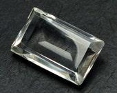 Rock Crystal Baguette Stone (27mm x 17m x 9mm) - Quartz Crystal - Natural Gemstone
