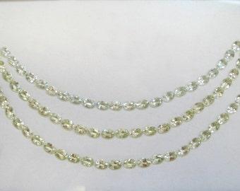 Light Yellow Beryl three Tier Cascade Necklace with Ring Stone - Three strand necklace, loose gemstones