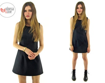 On Sale - 90s Minimalist Micro-Mini A-line Dress ΔΔ 90s Revival Little Black Dress ΔΔ xs / sm