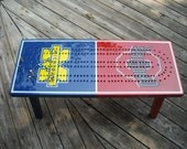 Custom Made Cribbage Board Coffee Table, Cribbage, Cribbage Table, Team Rivalry, College Rivalry, House Divided, Cribbage Coffee Table