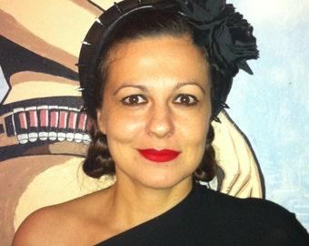 "Leather tiara ""Gothic Frida"""