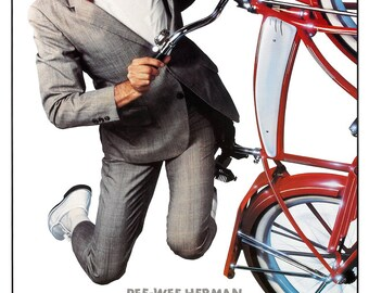 """Pee Wee's Big Adventure - Movie Comedy Poster Print - 13""""x19"""" or 24""""x36"""" - Home Theater Media room decor - Pee Wee Herman - Big movie poster"""