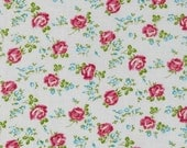 18 x 20 LAMINATED fabric - Small scattered roses on white - Sugar Hill BPA free (aka oilcloth, coated vinyl fabric) Whelan