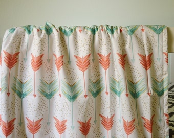 Crib Blanket Shot in Water - Crib Blanket - Baby Blanket - Minky Blanket - Coral, mint, gold blanket - Arrow Baby Blanket-Arrow Crib Bedding