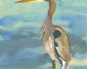 Gray Heron PRINT of original