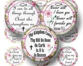 CHRISTIAN, JESUS, Bible Verses, Bottle Cap Images, Digital Collage sheet, Instant Download, 1 Inch Circles, Bottle Caps, Glass Tiles,(No.3)