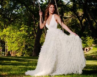 Sweet Pea Ruffled Wedding Gown