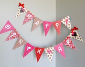 Minnie Mouse Party Banner, Pink, Gold, Red